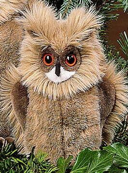 ワシミミズク(小) KOSEN(ケーセン社) 23cm Eagle Owl Youth/鳥/ぬいぐるみ プレゼント/リアル/動物/ギフト/子供/女の子/男の子/大人/クリスマス
