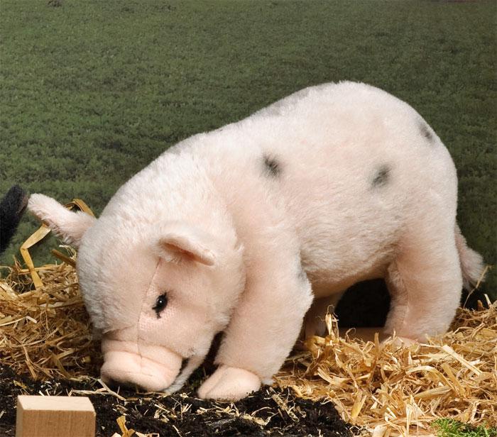 ケーセン ぬいぐるみ kosen マイクロピッグ ピンク 30cm Mohair Pot Bellied Pig