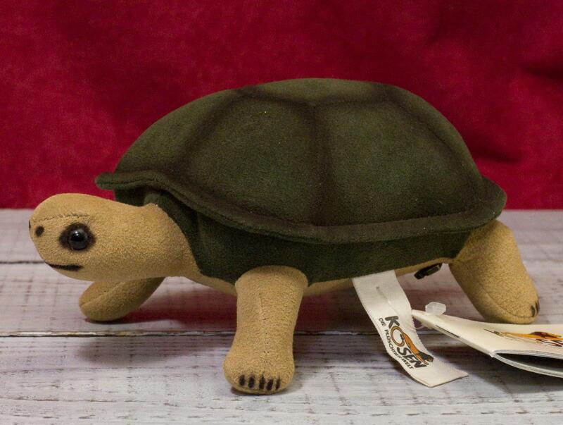 """カメ(小) KOSEN(ケーセン社) 17cm """"Olli"""" Baby Turtle/ぬいぐるみ プレゼント/リアル/動物/ギフト/子供/女の子/男の子/大人/クリスマス"""