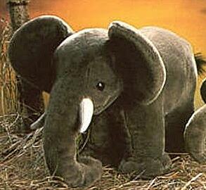 象 elephant 40cm/ぬいぐるみ プレゼント/リアル/動物/ギフト/子供/女の子/男の子/大人