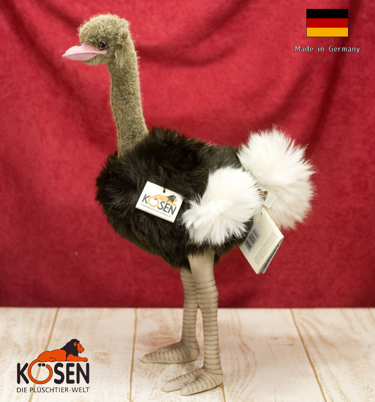 """ダチョウ KOSEN(ケーセン社) 39cm """"Strauss"""" Ostrich/鳥/ぬいぐるみ プレゼント/リアル/動物/ギフト/子供/女の子/男の子/大人/クリスマス"""