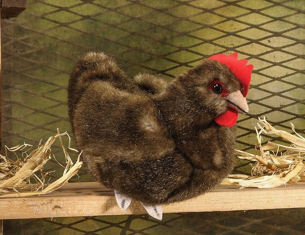 ケーセン ぬいぐるみ kosen 牝鶏 ニワトリ ブラウン 14cm Hen, small, broun  リアル 動物