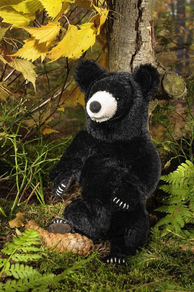 ケーセン ぬいぐるみ kosen ブラックベア モヘア (小)くま 24cm Black Bear, small, Mohair リアル 動物