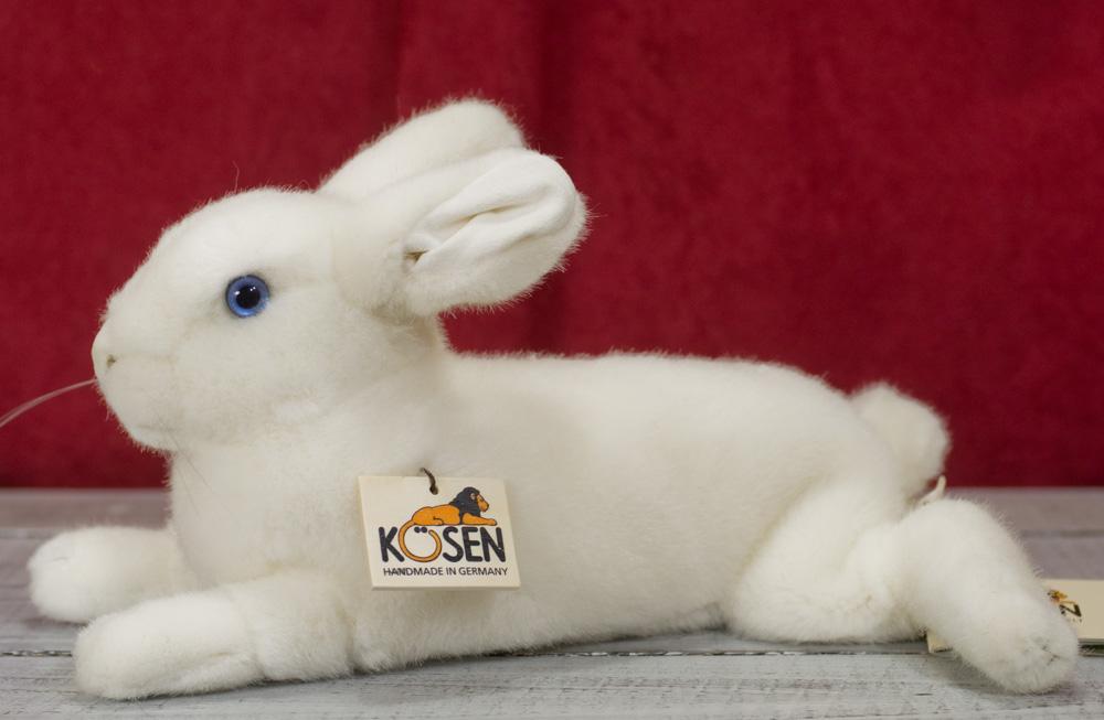 ねそべりうさぎ 白 KOSEN(ケーセン社) 30cm White Rabbit/ぬいぐるみ プレゼント/リアル/動物/ギフト/子供/女の子/男の子/大人/クリスマス