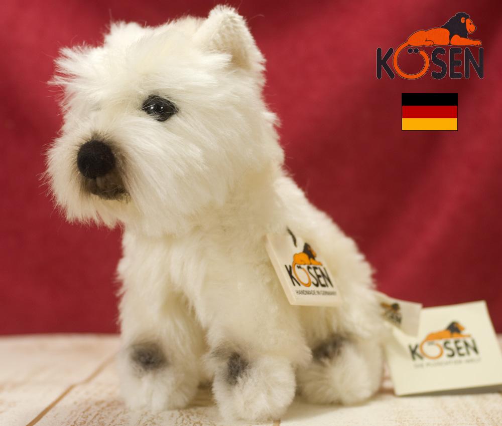 ウエスト・ハイランド・テリア Westhighland Terrier KOSEN(ケーセン社) 25cm /ぬいぐるみ 犬  いぬ プレゼント/リアル/動物/ギフト/子供/女の子/男の子/大人/クリスマス