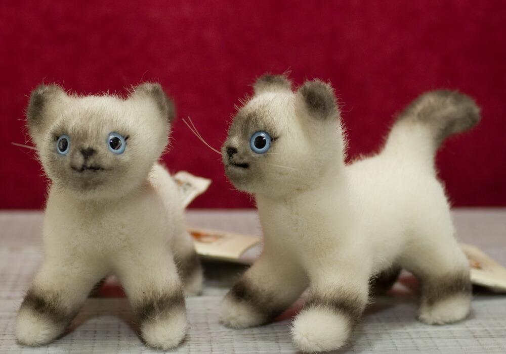ケーセン ぬいぐるみ kosen ビルマ猫 バーマン 子猫 立ち14cm Birman KittenStanding ねsrthQd