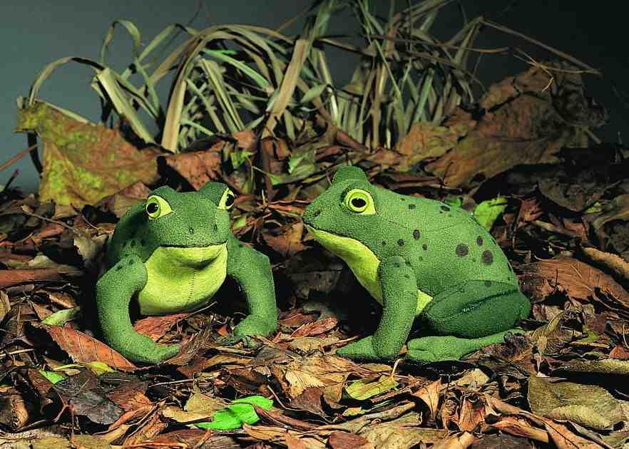 """ケーセン ぬいぐるみ kosen かえる 「ハインリヒ」 15cm """"Heinrich"""" Frog リアル 動物"""