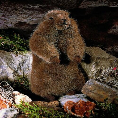 マーモットの子 KOSEN(ケーセン社) 22cm Baby Marmot Groundhog/ぬいぐるみ プレゼント/リアル/動物/ギフト/子供/女の子/男の子/大人/クリスマス