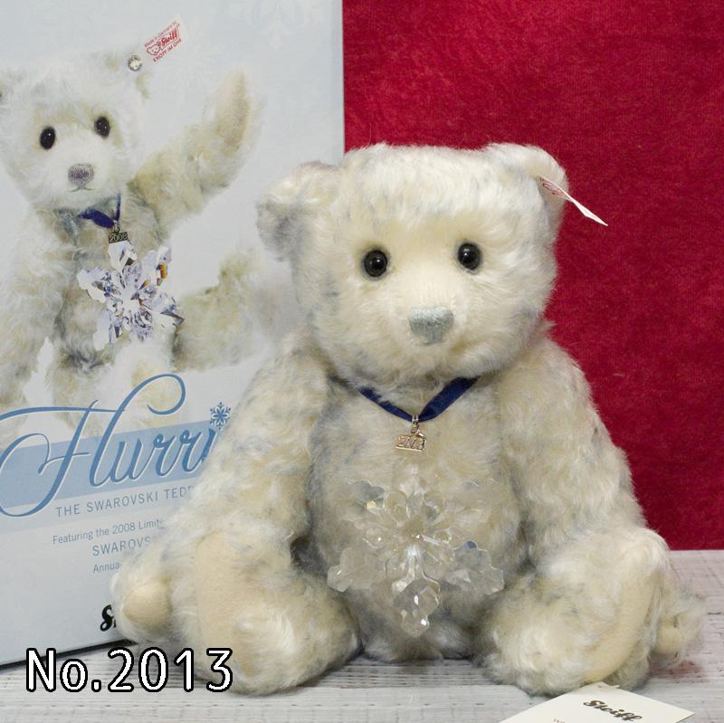 2008年スワロフスキーベア「Flurrie」■アメリカ限定シュタイフテディベア テディベア ぬいぐるみ 誕生日 プレゼント 内祝い ギフト クリスマス