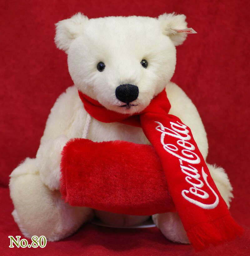 シュタイフ テディベア Steiff 世界限定テディベア コカコーラ ポーラベア マフ(Coca-Cola Polar Bear)
