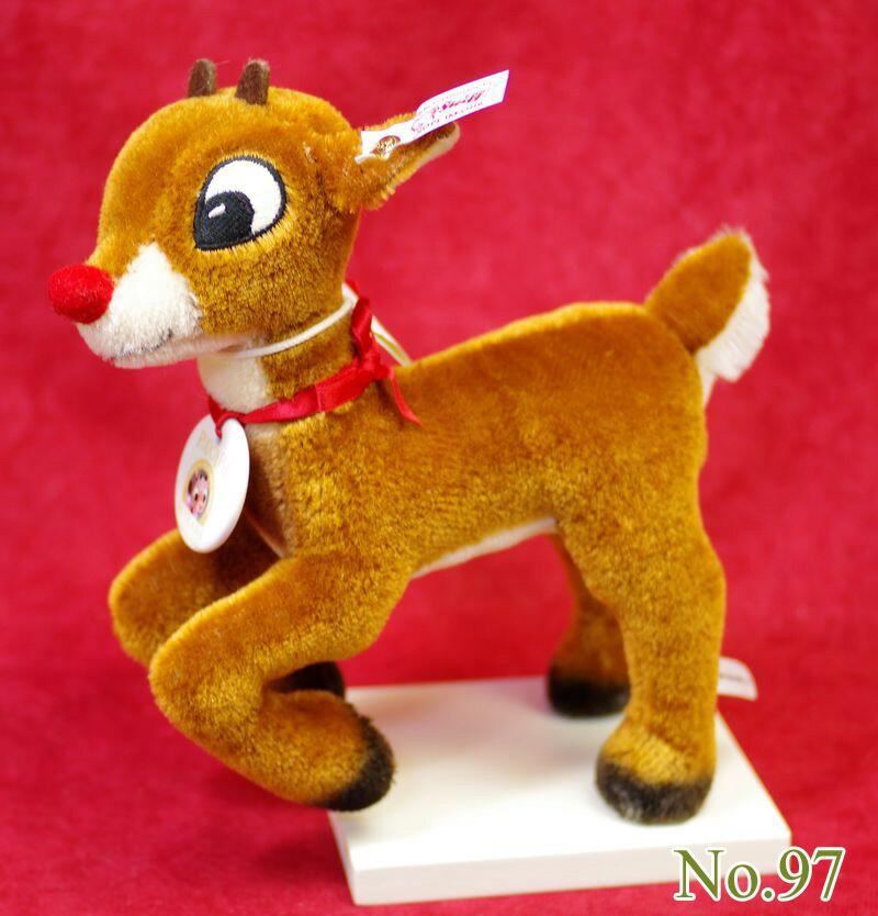 Steiffシュタイフ アメリカ限定 50周年 赤鼻のトナカイ ルドルフ テディベア テディベア ぬいぐるみ 誕生日 プレゼント 内祝い ギフト クリスマス