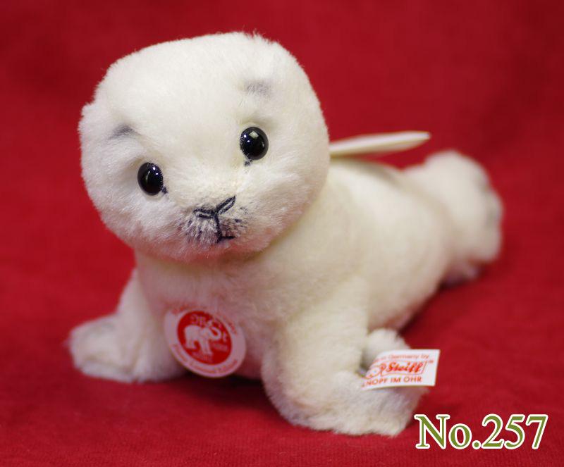 Steiffシュタイフ 世界限定 フィニー 赤ちゃんアザラシ(Finny Baby Seal) プレゼント リアル ぬいぐるみ クリスマス