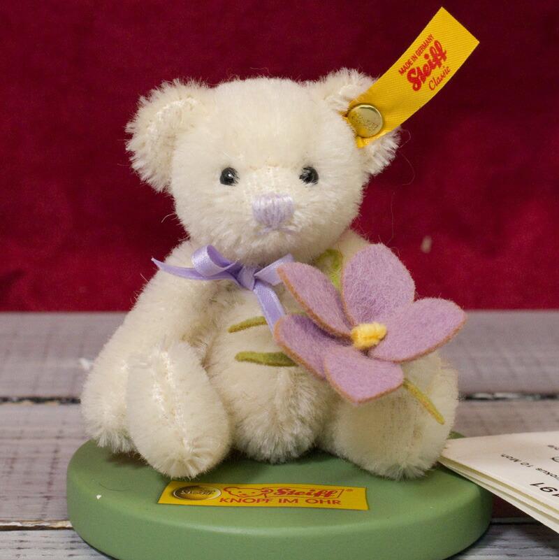 Steiffシュタイフ ミニ・テディベア・クロッカス 10cm(Mini Teddy Bear Crocus) ぬいぐるみ プレゼント 誕生日 ギフト クリスマス