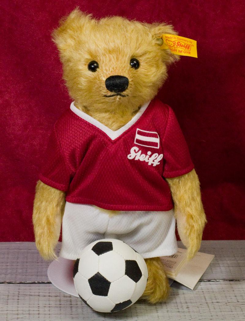 シュタイフ テディベア Steiff サッカー テディベア モヘア(オーストリア)22cm ぬいぐるみ プレゼント