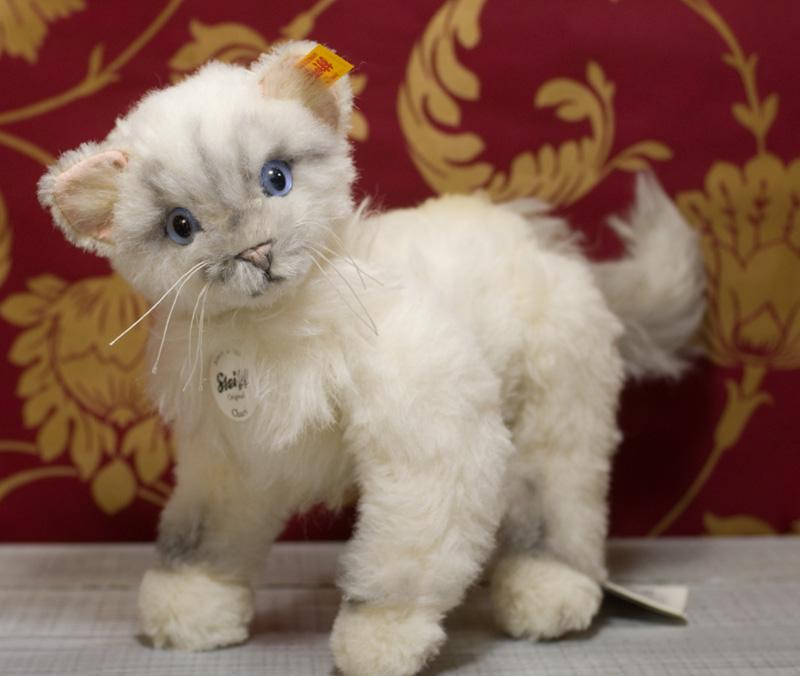 Steiffシュタイフ チャリ キャット マスターピース 26cm(Chari Cat Masterpiece)テディベア ぬいぐるみ 誕生日 プレゼント 内祝い ギフト クリスマス