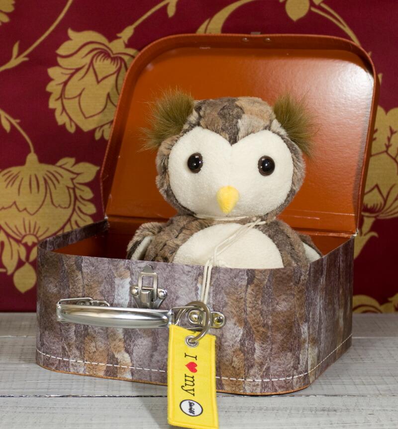 シュタイフ テディベア Steiff ユージーン フクロウ スーツケーステディベア ぬいぐるみ 誕生日 プレゼント 内祝い ギフト クリスマス3qAjLcSR54