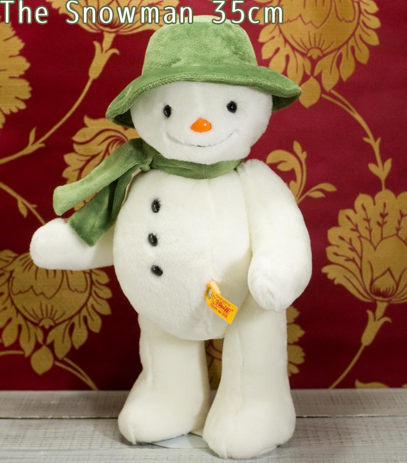 シュタイフ テディベア Steiff テディベア スノーマン 35cm (The Snowman) テディベア ぬいぐるみ プレゼント ふわふわ クリスマス