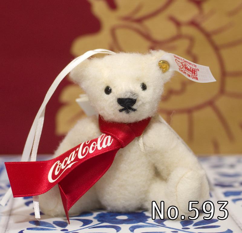 Steiffシュタイフ 世界限定テディベア コカコーラ ポーラベア オーナメント(Coca-Cola Polar Bear) プレゼント リアル ぬいぐるみ クリスマス