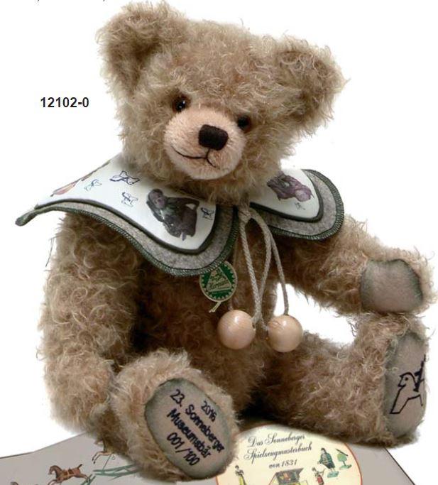 ゾンネンベルクニュージアムテディベア2017 Sonneberger Museum bear 緑ハーマン社テディベア