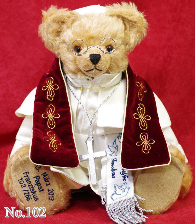 第266代ローマ法王 フランシスコ1世 テディベア2013■グリーンハーマン社 限定テディベア
