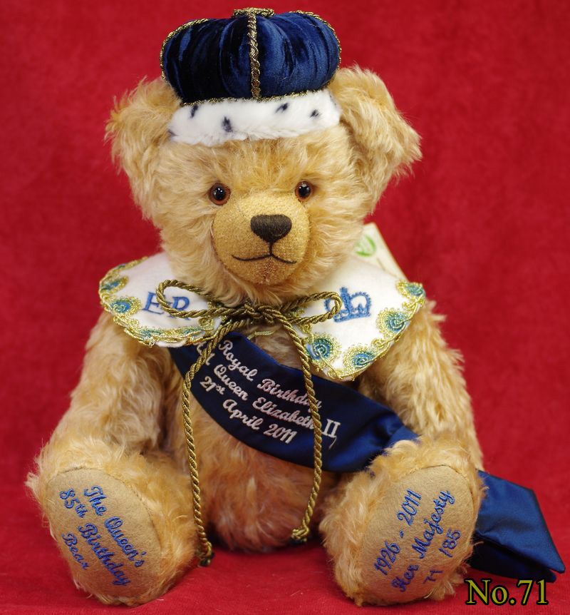 クイーンズ 85th バースデーベア(The Queens 85th Birthday Bear) ■グリーンハーマン社 限定テディベア