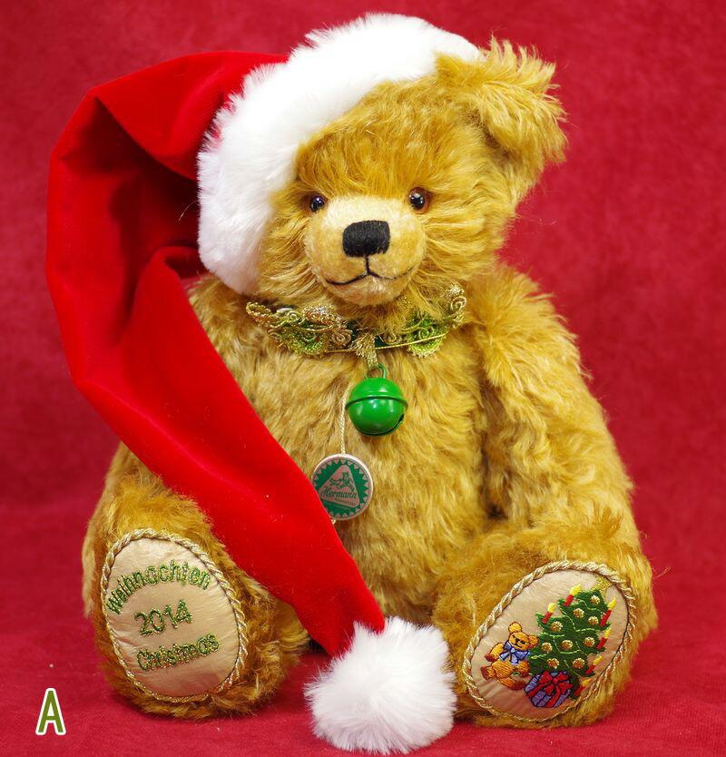 ハーマン クリスマス 2014 テディベア■グリーンハーマン社 限定テディベア