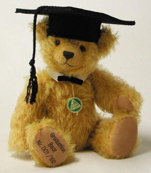 卒業 ベア ドイツ 緑ハーマン社テディベア
