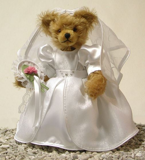 結婚式 ベア 花嫁 ドイツ 緑ハーマン社テディベア