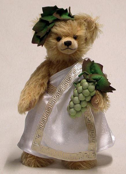 ワインの神 バッカス 緑ハーマン社テディベア