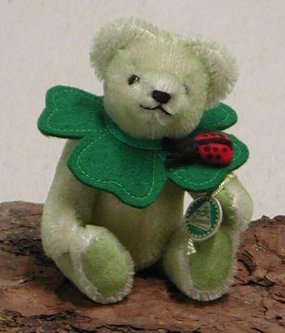 リトルラッキーチャーム 四つ葉のクローバー 緑ハーマン社テディベア