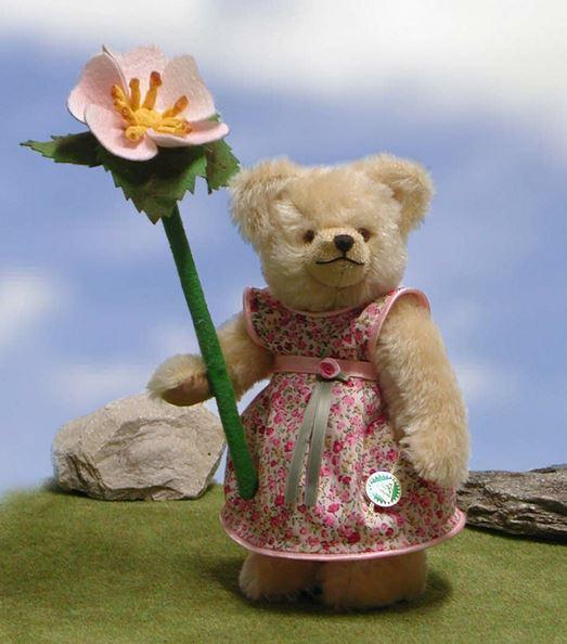 リトル フラワーガール 野薔薇 緑ハーマン社テディベア