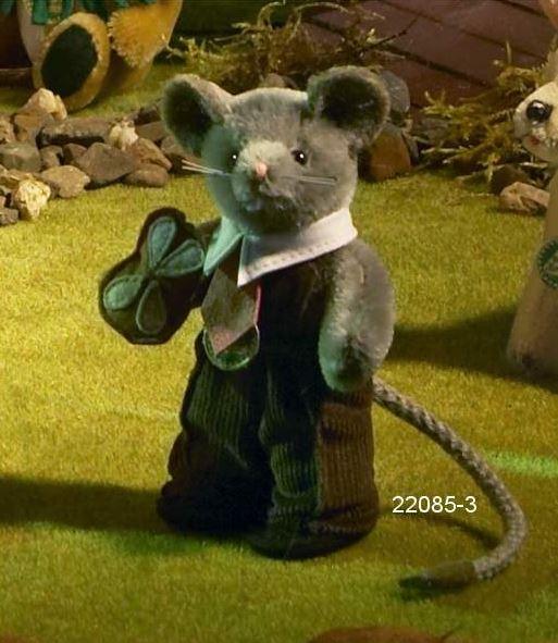ミニチュア 立ち ネズミ 緑ハーマン社テディベア