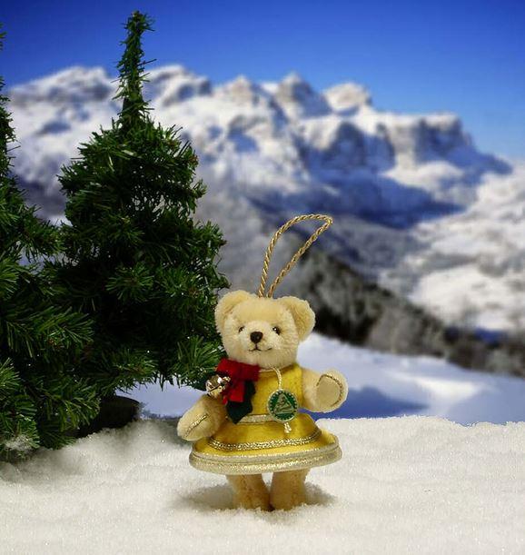 クリスマスの鐘 緑ハーマン社テディベア