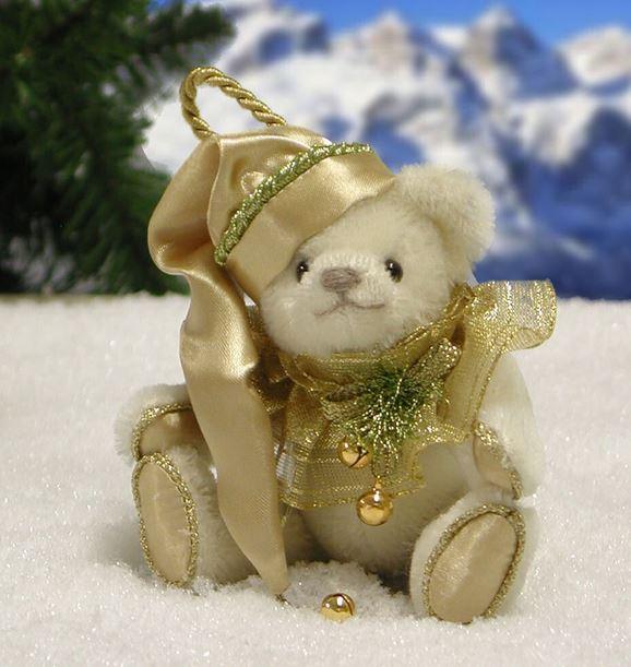 ホワイトクリスマス 緑ハーマン社テディベア