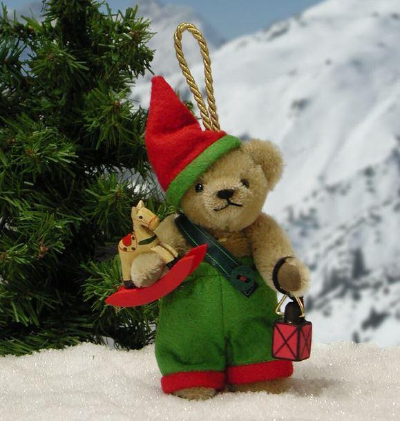 クリスマス ヴィヒテル 緑ハーマン社テディベア
