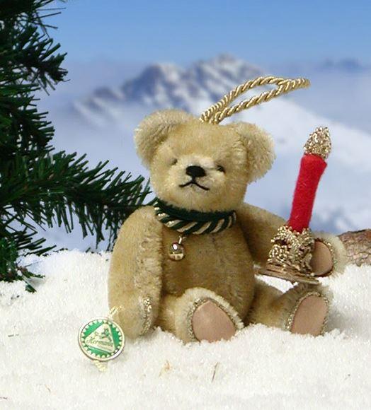 クリスマス ライト 緑ハーマン社テディベア