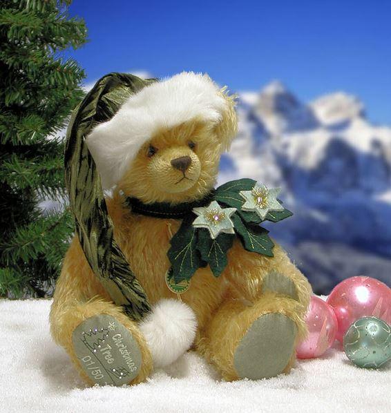 クリスマスツリー 緑ハーマン社テディベア