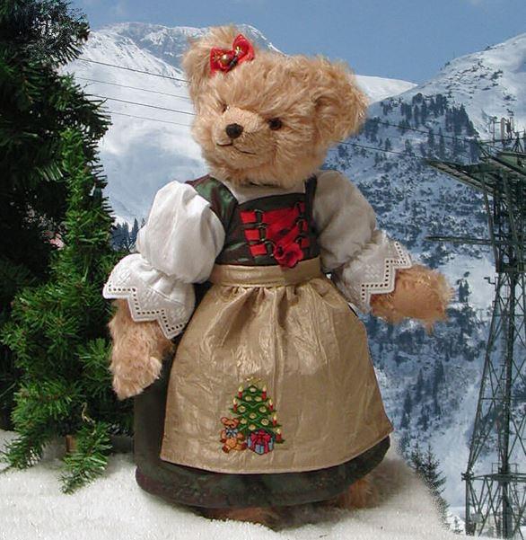 クリスマス ソフィー 緑ハーマン社テディベア