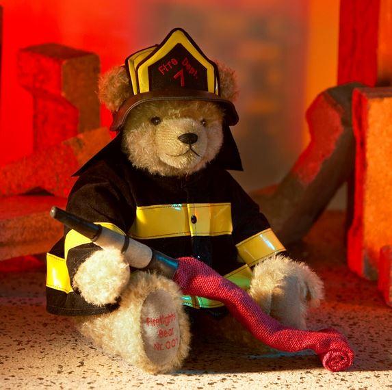 消防士 緑ハーマン社テディベア
