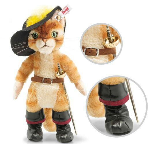 シュタイフ テディベア Steiff Steiff 長靴をはいた猫 テディベア 26cm 世界限定 Puss in boots
