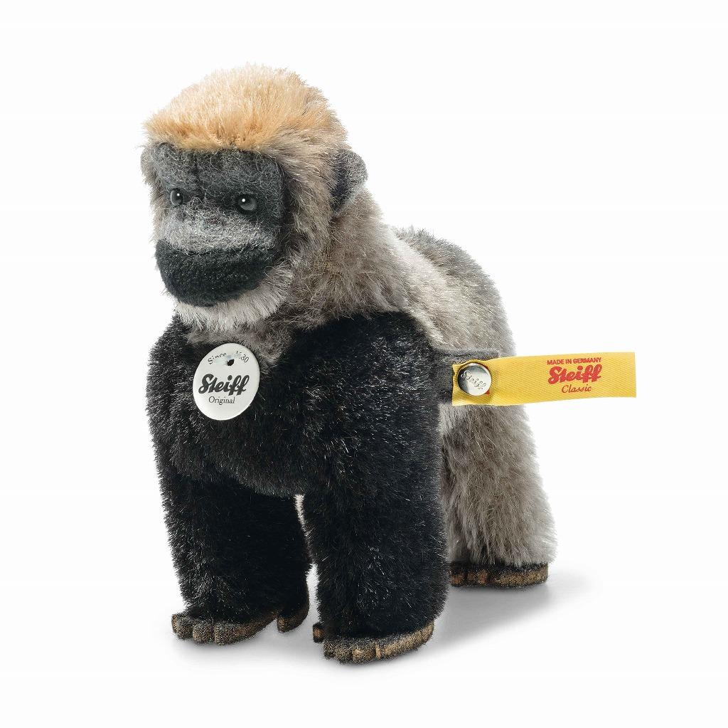 シュタイフ テディベア Steiff ナショナルジオグラフィック ボージーゴリラ in ギフトボックス 11cm steiff テディベア National Geographic Boogie gorilla in gift box