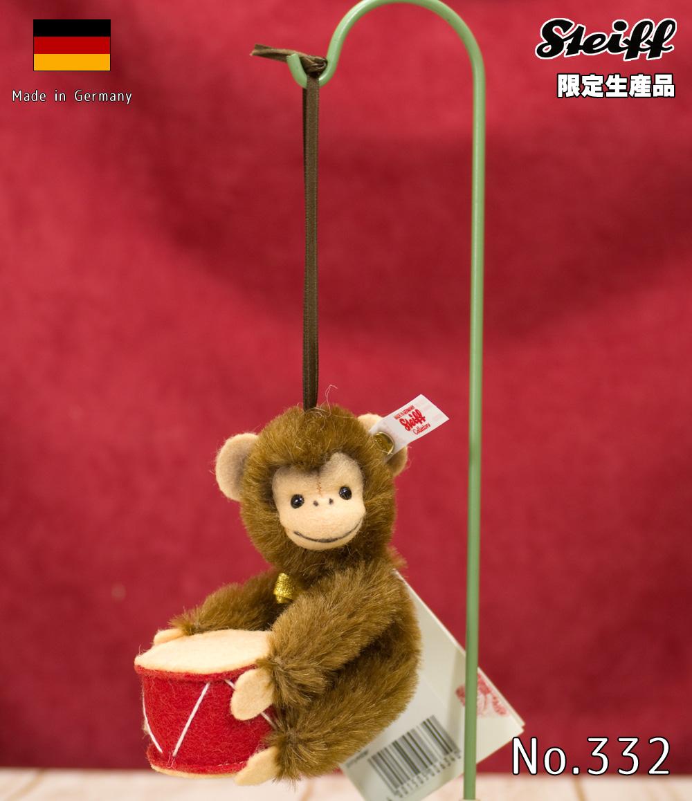 Steiffシュタイフ 世界限定ジョコ モンキーオーナメント テディベア Jocko monkey ornamentプレゼント リアル ぬいぐるみ クリスマス