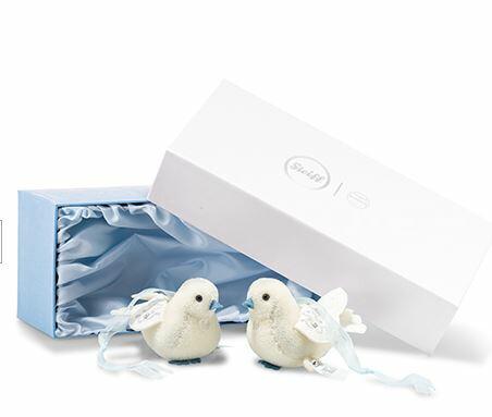 【予約】シュタイフ(steiff) ウエディング ダブ(ハト)セット テディベア Wedding Dove Set  /プレゼント/ぬいぐるみ/クリスマス/