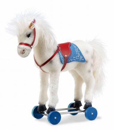 シュタイフ社のテディベア シュタイフ テディベア Steiff 世界限定オリビアホース on ホイールズ 43cm Steiff Olivia horse on wheels