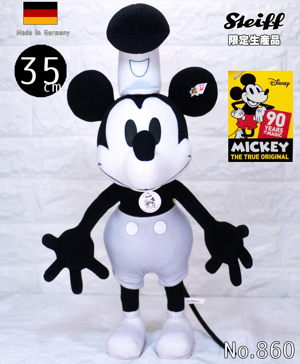 シュタイフ テディベア Steiff ミッキーマウス誕生90周年蒸気船ウィリーミッキーマウス 35cm Disney Mickey Mouse Steamboat Willie