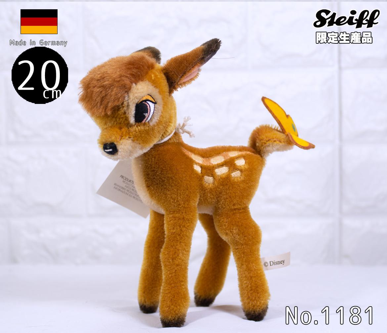 Steiffシュタイフ 世界限定 ディズニー バンビDisney Bambi プレゼント リアル ぬいぐるみ クリスマス