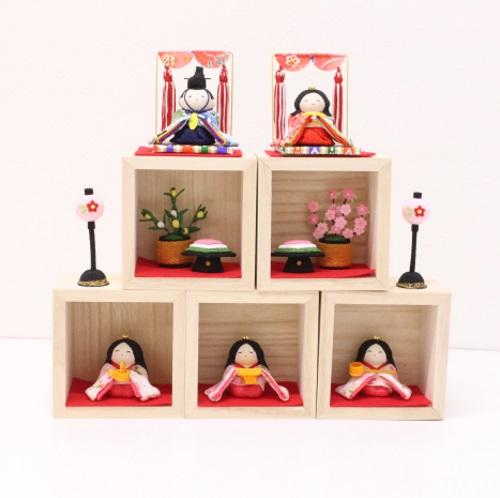 〈京都 龍虎堂〉箱段お飾りセット お雛さま