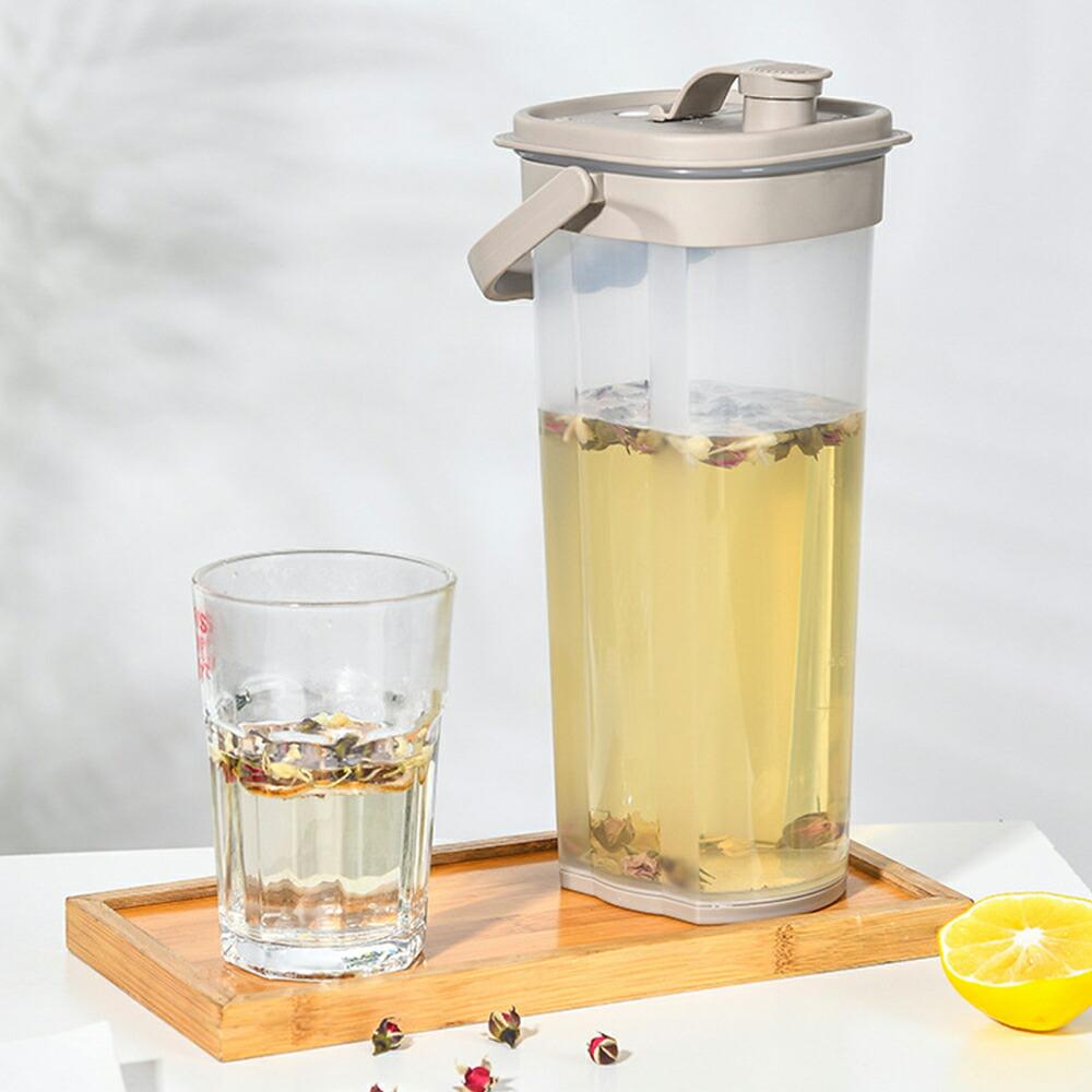 水出し茶ほかアレンジドリンク作りに適当 横置きも出来る 新素材プラスチック 2000ml IwaiLoft ピッチャー 冷水筒 新品 ジャグ ウォーターピッチャー クリア 保存容器 ガラスポット 麦茶ポット ウォーターカラフェ 送料0円