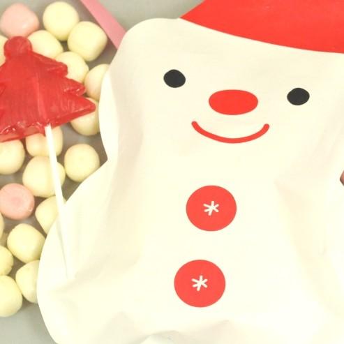 クリスマスプチギフト☆スノーマンパックキャンディ 5ケース(100個)☆レビュー書き込みで次回あめプレゼント