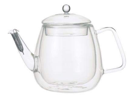 【メーカー公式】iwaki(イワキ) 岡田美里 紅茶ソムリエシリーズAirティーポット(2重構造耐熱ガラス)